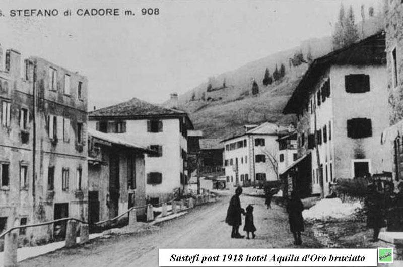 Santo Stefano di Cadore - Hotel Aquila d'Oro bruciato