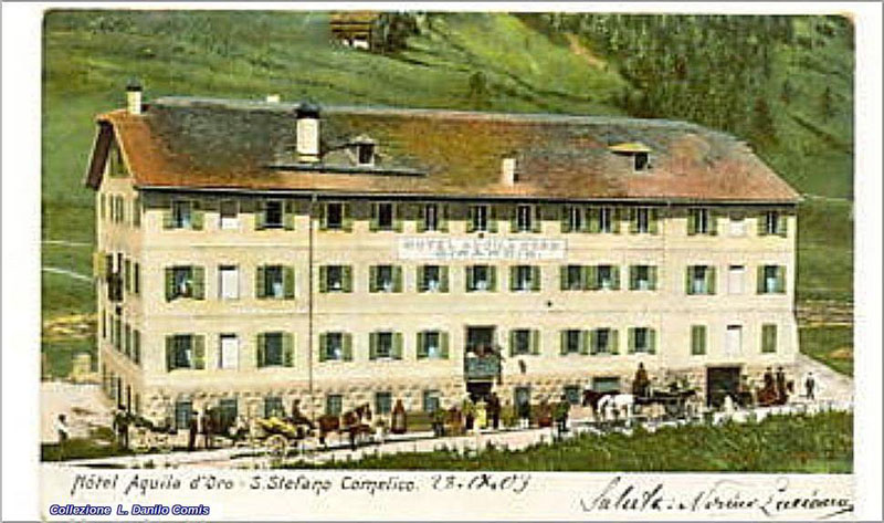 Santo stefano di Cadore - I landò davanti all'Hotel Aquila d'Oro