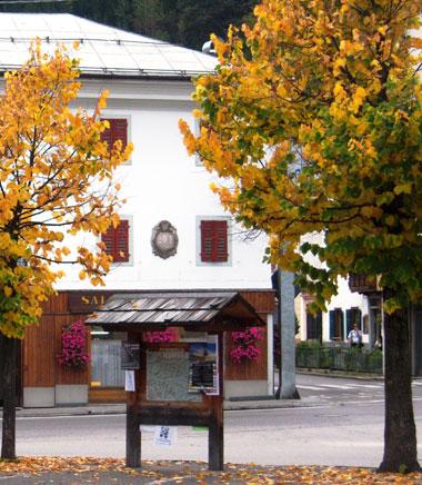 Casa Fontana, ex casa De Candido - lapide commemorativa della visita Regina Margherita di Savoia