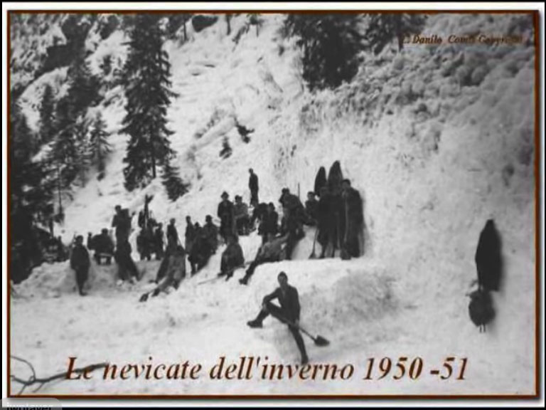 Le nevicate dell'inverno 1950-51, guarda il video