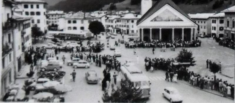 Santo Stefano di Cadore - Piazza Roma anni '50