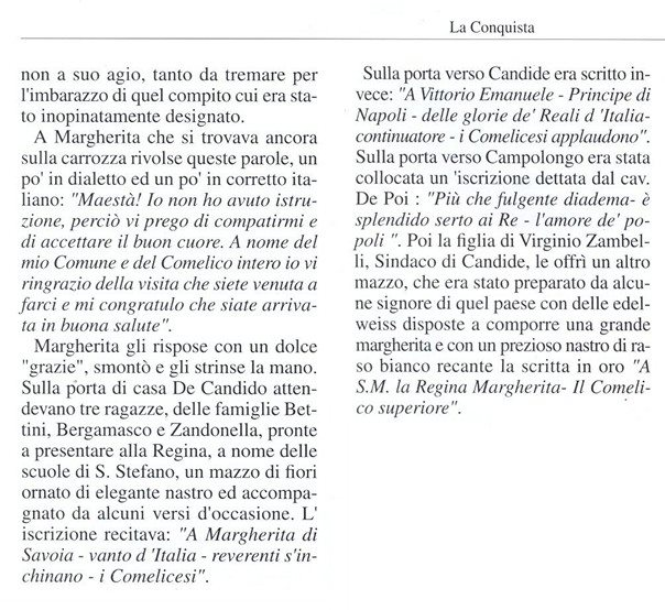 Santo Stefano di Cadore racconta la visita della Regina Margherita di Savoia